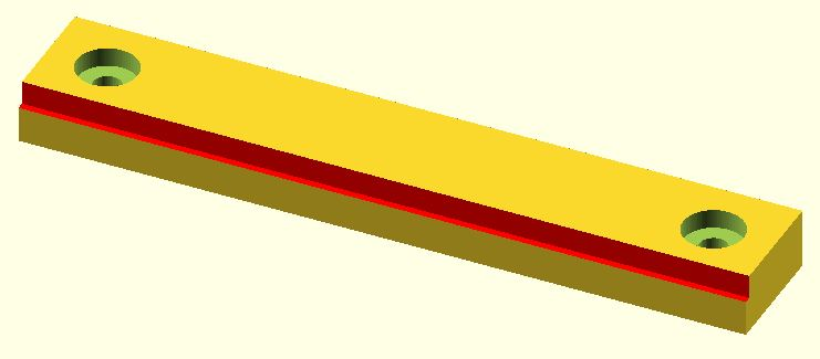 Rectangular step shown in red